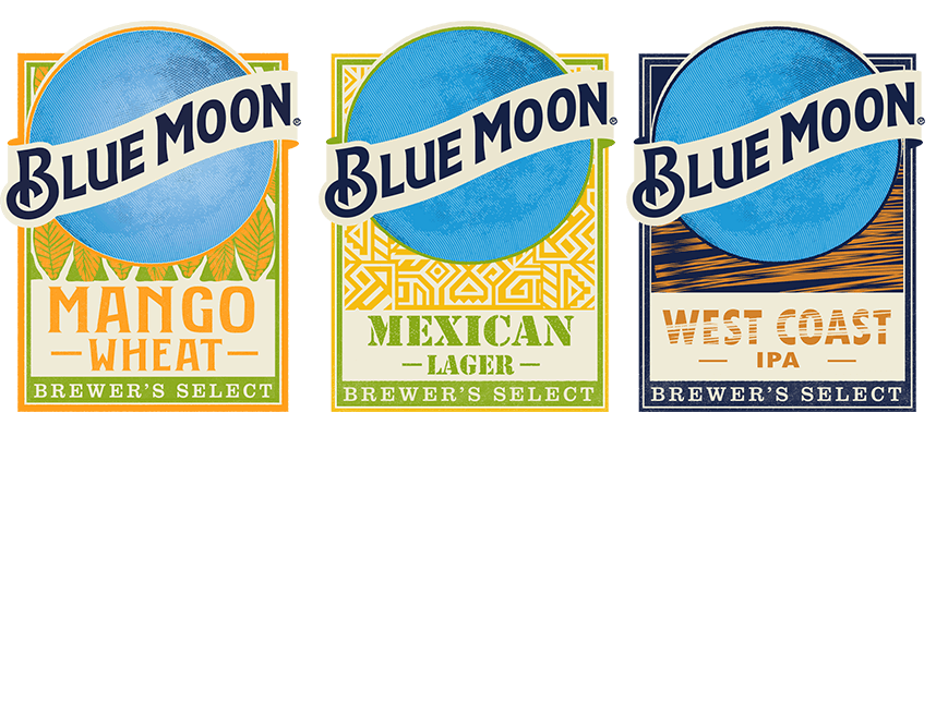 Blue Moon beer labels