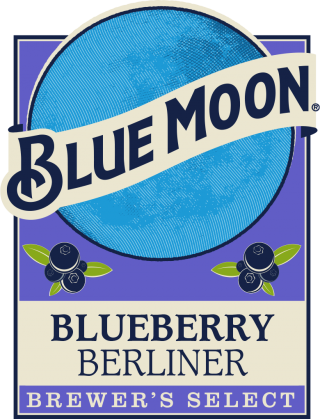 Blueberry Berliner beer label