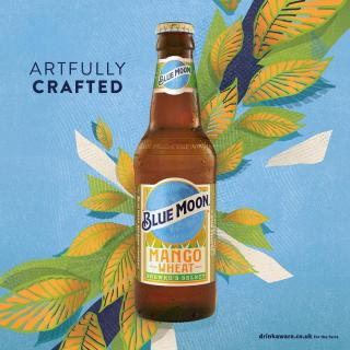 Introducing Blue Moon Mango Wheat, the ripe new brew you've been waiting for. 🥭  Now available at Amazon 🍻 Click the link in our bio to order yours now!! #CraftBeer #ArtfullyCrafted #BlueMoonBeerUK #Launch #NewBrew #NewBeer #BlueMoonMangoWheat #BlueMoonMango  Drink Blue Moon Mango Responsibly.