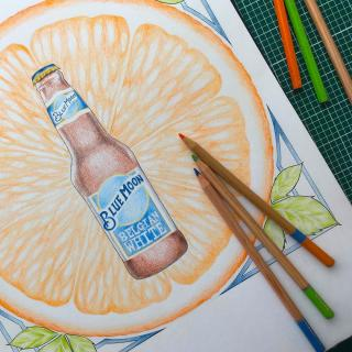 Thanks to @duxdesigns for sharing your artfully crafted creation with us! Swipe 👉🏼 to take a closer look! 🖌️🎨  #CraftBeer #ArtfullyCrafted #BlueMoonBeerUK  Please Drink Responsibly.