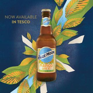 What you have all been waiting for is finally here!! Our Blue Moon Mango Wheat is now available in Tesco!!!  #CraftBeer #ArtfullyCrafted #BlueMoonBeerUK  Please Drink Responsibly.