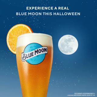 Experience a real Blue Moon this Halloween.  . . . #BlueMoon #Halloween