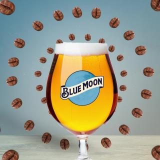 Coffee meets beer. Try Blue Moon Iced Coffee Blonde, brewed with real coffee beans.