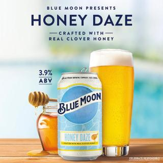 Meet Honey Daze, the newest beer from Blue Moon. A daytime beer brewed with real clover honey.