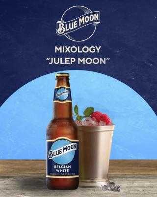 Get Derby ready with a Julep Moon, a cocktail that carries forward the bright flavor of Blue Moon combined with Kentucky's classic spirit.