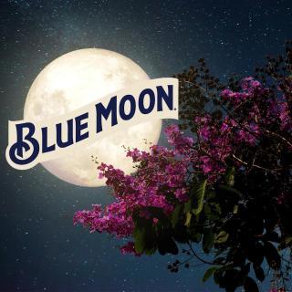 Luna azul en el cielo y una Blue Moon en tu mano.