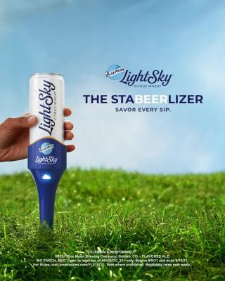 When a light beer tastes as good as Blue Moon LightSky, you don't want to waste a single drop. That's why we created The Stabeerlizer.   Enter for a chance* to win one at BlueMoonBrewingCompany.com/LightSky.  *NO PURCH. NEC. Open to legal res of 50 US/DC, 21+ only. Begins 8/9/21 and ends 9/10/21. For Rules, visit promorules.com/PL015731. Void where prohibited. Msg&data rates may apply.