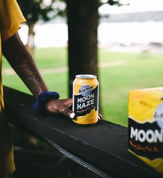 Make any garden a beer garden with the delicious taste of Moon Haze.  📸: @craftbeerdeer