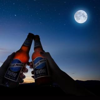 A Blue Moon on the blue moon makes your night shine even brighter. Raise a glass on March 31st.
