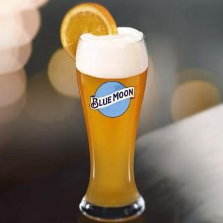 2 Blue Moon Beer Glasses Brew Palmer Place Fest 6 ounce Set