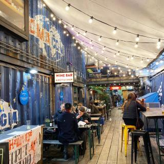 @popbrixton is a goldmine for local, independent start-ups working in food, retail and design. And it serves great beer 🍊  #CraftBeer #ArtfullyCrafted #BlueMoonBeerUK  Please Drink Responsibly