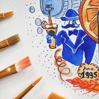 Artist Spotlight ➡️ @printspaintingsckieft Clare's day job is within the Blue Moon Sales Team, but proving talent is everywhere, she also specialises in personalised prints and painting. Clare has arftully crafted several stunning pieces showcasing Blue Moon. #ArtfullyCrafted #CraftBeer #BlueMoonBeerUK #ArtistsofInstagram #Artist #Art #Watercolour #Painting Please Drink Responsibly