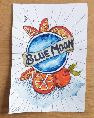 Finding yourself with more spare time? Get creative! 🎨  #CraftBeer #ArtfullyCrafted #BlueMoonBeerUK #Art #Watercolour #Painting #ArtistsofInstagram #Artist #Watercolour  Please Drink Responsibly