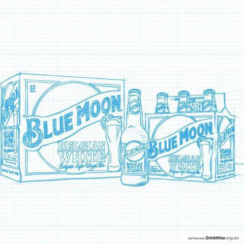 Blue Moon has been artfully crafted for a welcome twist of flavor 🎨🍊