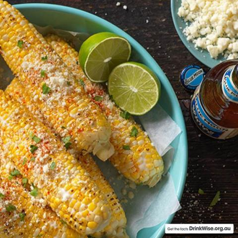 Throwin' it back to these Blue Moon soaked corn cobs for you to whip up at home this weekend 🌽🍺 You'll need: ▪️3 bottles of Blue Moon Belgian White (1/4 cup reserved) ▪️4-6 corn cobs, husks removed ▪️½ cup mayonnaise ▪️1 cup Parmesan cheese ▪️½ tsp cayenne pepper ▪️1 cup fresh coriander, chopped  Prep: ▪️In a large bowl, soak the corn in the Blue Moon Belgian White for 30 minutes ▪️Remove the corn, pat dry and grill in an oven or bbq until charred ▪️Meanwhile, whisk together the mayonnaise and the reserved ¼ cup of beer ▪️Remove the corn from the heat and plate ▪️While still warm, brush with the mayonnaise mixture ▪️Sprinkle the corn with the Parmesan cheese and cayenne pepper ▪️Garnish with coriander and serve
