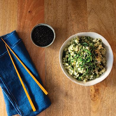 Garlic Kale Perilla Fried Rice